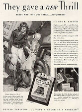 1930 Ad Old Gold Elinor Smith Young Aviator Forbidden Airplane Flying Lessons