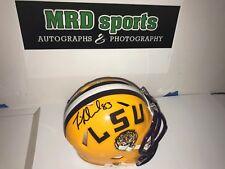2017 LSU Tigers team hand signed mini football helmet Darrel Williams Dural