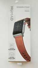 NEW NOMAD Modern Strap Rustic Leather Apple Watch Band 42mm Brn/Blk  NEW IN BOX