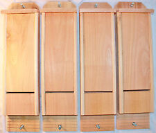 4 Single Chamber Cedar Bat Houses Hand Crafted Natural Pest Control
