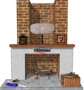 "CHIMSOC - Balloon for Chimney - Small Rectangle - 38cm x 23cm 15"" x 9"""