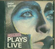 Peter Gabriel/Genesis - Plays Live Highlights West Germany Charisma Label Cd