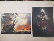 Assassins Creed IV Black Flag two Postcards only collector's edition UK