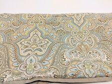 Laura Ashley Paisley King Size Pillow Sham Blue Green White Taupe