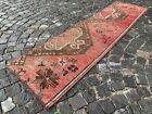 Turkish rug, Runner rug, Vintage rug, Handmade, Corridor, Wool | 2,0 x 7,5 ft