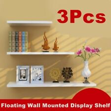 3Pcs/Set DIY Wall Shelves Shelf Floating Display Decor Home Wood Wall Mounted