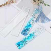 DIY Bookmark Mould Rectangle Silicone Mold Making Epoxy Resin Jewelry bara