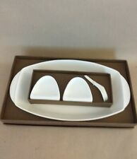 A Porcelain Serving Dish And 2 Dip Bowls ByToni Lieo