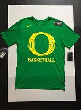 Nike Oregon Ducks Men's Tri Blend Stamp T-Shirt Greeen Heather Size L basketball