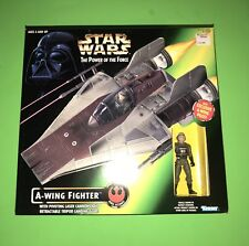 Vintage STAR WARS A-WING FIGHTER w/ Exclusive Figure The Power of the Force!
