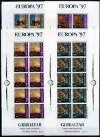 Gibraltar Kleinbögen MiNr. 783-86 postfrisch MNH Cept 1997 (CB461