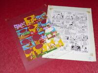 [ Bd ] Marciales / TONY LAFLAMME Volapük Lámina Colores Celluloid Original 1974