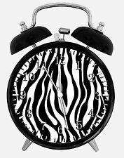 """Zebra Alarm Desk Clock 3.75"""" Home or Office Decor E01 Nice For Gift"""