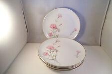 Vintage Royal Court Fine China Japan Carnation Set of 5 Salad Plates