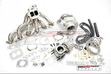 86-91 TOYOTA SUPRA 7MGTE T4 .68AR TOP MOUNT STAINLESS TURBO CHARGER KIT 550HP