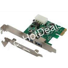 PCI-E Express USB 3.0 2 Port HUB Card Adapter w/ Low Profile Bracket