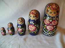 Matroschka Babuschka Holzpuppen 5 Stück  größte Puppe 19 cm