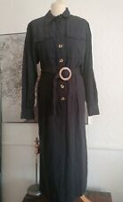 New Free People cotton  Shirt Belted  Dress, Black, Small 8/10