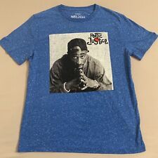 Poetic Justice Tupac Shakur 2Pac T-Shirt Blue + White Specks Size M - NEW!!!