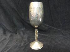 Sterling Silver wine goblet Asprey London Gilt designed by Anthony Elson 1975
