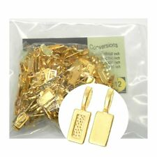 5 Glue on Bails Pendant Hanger Shiny Gold Plated 21x7mm