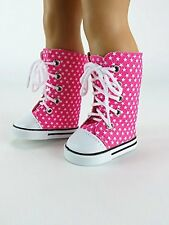 "Super Star Sneaker Boots in Pink for your American Girl Doll - 18"" Dolls"