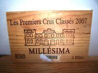 Façade estampe Les Premiers Crus Classés 2007 wine front panel bordeaux owc cbo