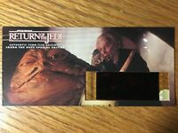 Star Wars Return of the Jedi -JABBA THE HUTT-Authentic 70mm Film Cell Card