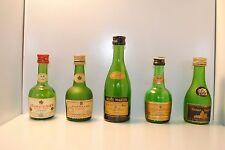 Lot of 5 Vintage empty cognac mini bottles - Rare, Collectable