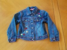 Zana Di girls jean jacket w/ladybugs size 5