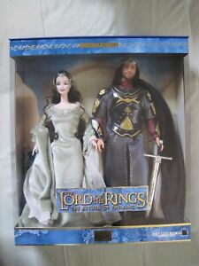 Barbie Lord of The Rings and Ken as Arwen and Aragorn...New In The Box!!!!