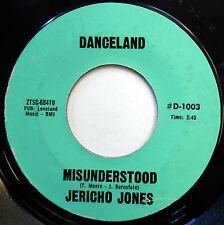 JERICHO JONES 45 Misunderstood / Pledging My... RARE RELEASE on DANCELAND e1785
