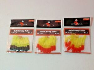 """Solid Body Tubes Vicious Fishing Panfish Sz 1 1/2"""" 3 pack of 8 each Colors"""