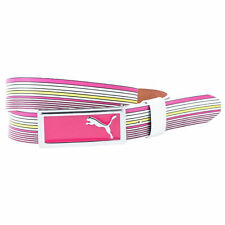 Women's PUMA Striped Belt White Fuchsia Yellow size L (37 inches)  (T12) $55