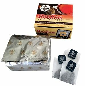 Mlesna Rooibos Herbal Tea 50 Bags - Rich in Antioxidants and Caffeine New