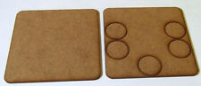 2mm MDF 100mm square weapons base for 5 crew, suitable for Bolt Action