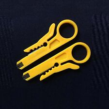 Plastic 2pcs Yellow Network Lan Wire Cable Punch Down Cable Stripper HOT