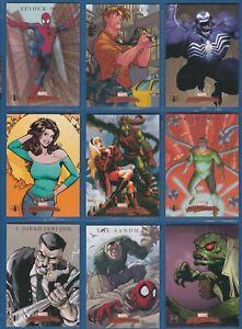 "2007 Sky Box Marvel Masterpieces  ""SPIDER-MAN"" Complete Sub-Set #S1-9"