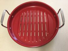 Technique BBQ Grill Pan Red & Black New
