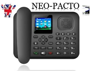 NEO-PACTO GSM 3G / 4G LTE WiFi Hot-Spot Bluetooth FM Android Desk phone Dual SIM