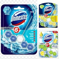 Domestos Power 5 Rim Block (4 Pack) Ocean Lime, Green Tea,
