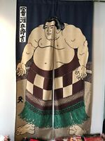 Huge Noren Japanese Sumo Wrestler Door Curtain Tapestry Ukiyoe Gorokichi