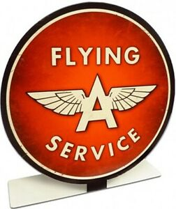 Flying A Service Table Topper Steel Sign 210mm diameter (pst)