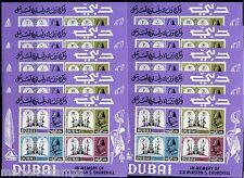 DUBAI WINSTON CHURCHIILL  LOT OF 10 SOUVENIR SHEETS   MINT NH