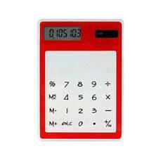 Ultra Slim Mini Transparent LCD Solar Powered Calculator Screen 8 lz F1U9 O8H1