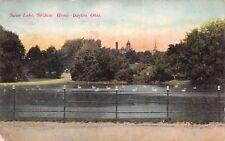 Dayton Ohio c1906 Postcard Swan Lake Soldiers' Home