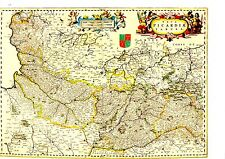 TIRAGE 20ème d' APRES CARTE BLAEU DU 17ème siècle  PICARDIE