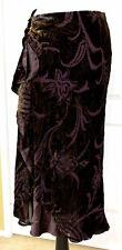 NWT Lauren Ralph Lauren Women's Size P/M Brown Silk Blend Floral Wrap Skirt MS