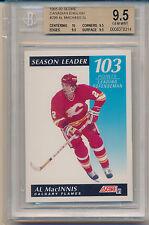 1991 Score Canadian Al MacINNIS (Season Leader Points Defenseman) (#299) BGS9.5