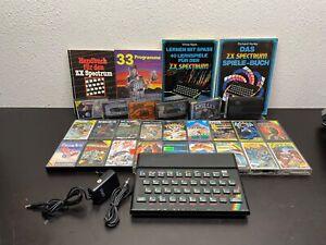 Sinclair ZX Spectrum 128K + 23 Spiele + 4 Bücher + Adapter -Kabel unvollständig